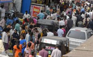 indian urban crowd