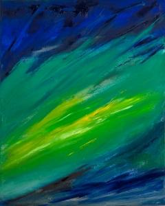 Rita Letendre, Un reve de lumiere, 2005, Huile sur toile, 30 x 24 po.